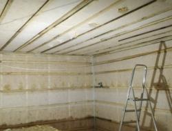 Утепление каркасного дома стена и потолок