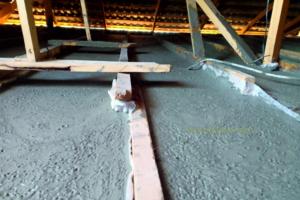 утепление крыши пенобетоном